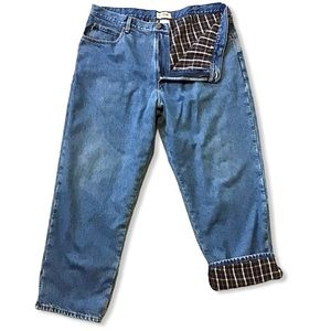 LL BEAN   Relaxed Fit Flannel Lined Jeans 40x30